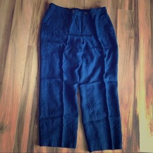 Linen capri pants